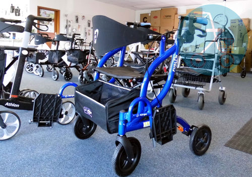 Opti-Rolly Airgo Fusion 2 in 1 Transport Rollator